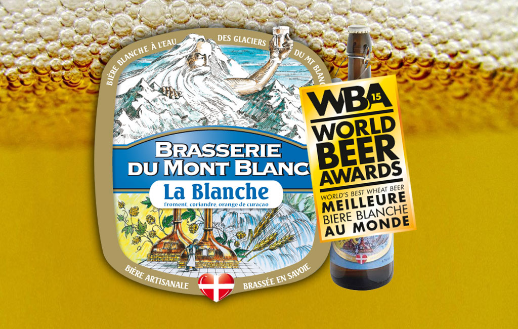 bière blanche de la brasserie du Mont Blanc