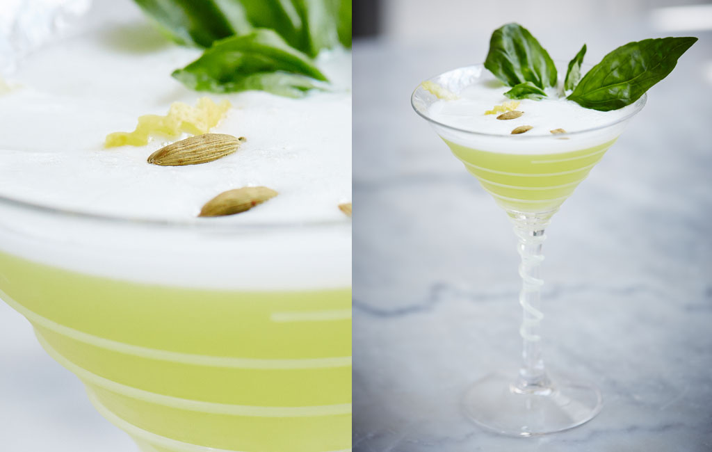 cocktail sunshine sour chartreuse par Johanny Falvo