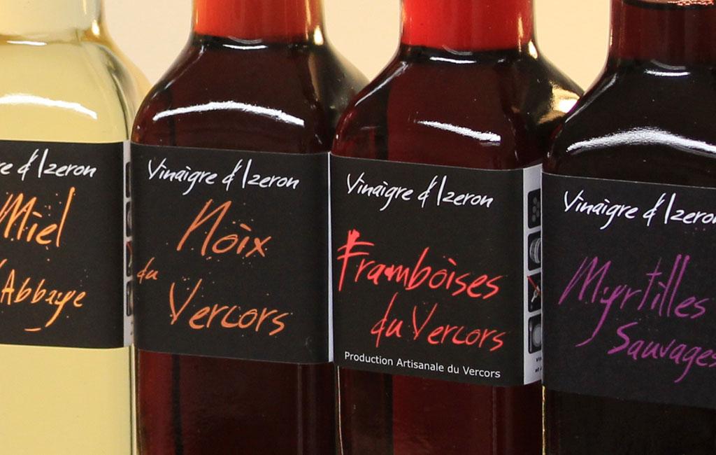 Collection de vinaigres de la balsamerie La Clandestine