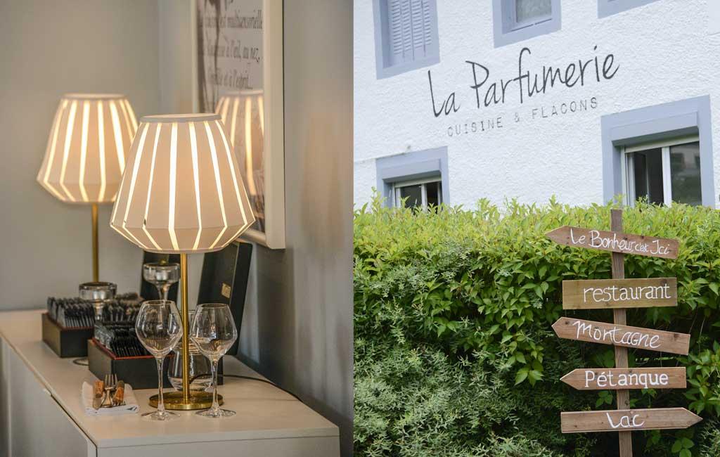 restaurant la parfumerie Viviers du Lac