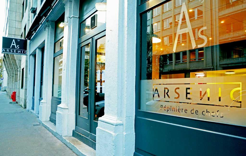 restaurant arsenic lyon Christian Têtedoie
