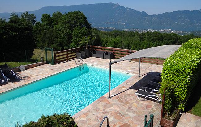 Le belle vue et sa piscine