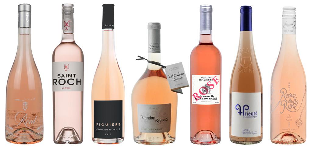 sélection vins rosés 2018
