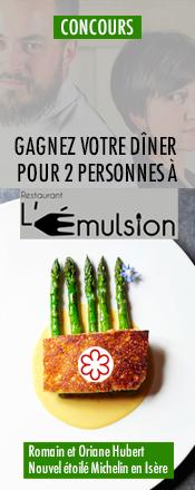 concours magazine exquis restaurant l'emulsion