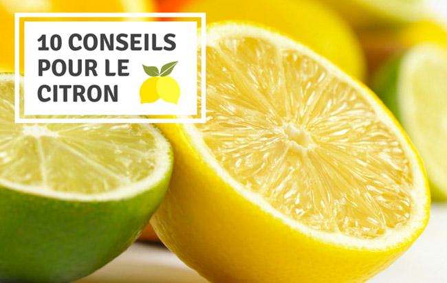 conseils pour le citron