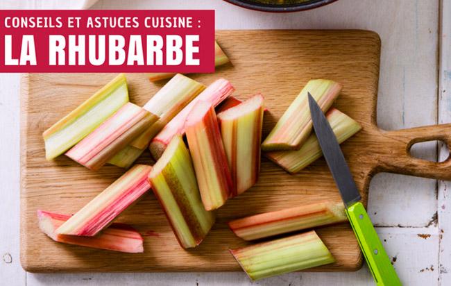 Conseils pour la rhubarbe :  savoir choisir, conserver et cuisiner la rhubarbe