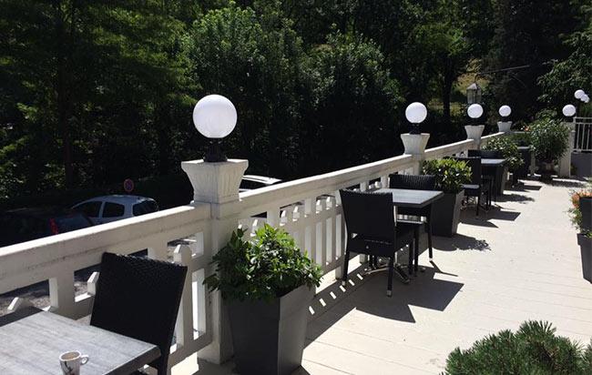 balcon du restaurant o pervenche