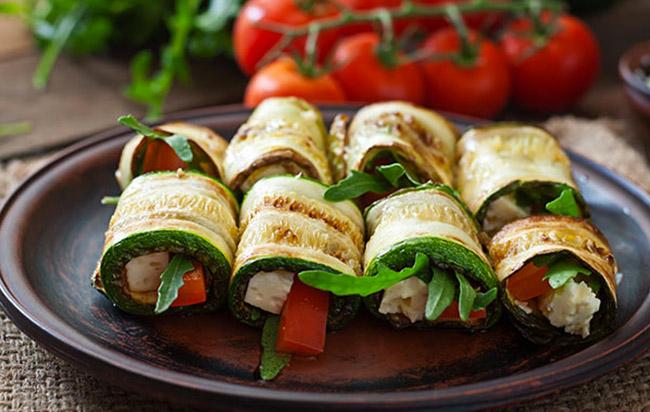 Makis courgette et chèvre - Recette parfaite pour un apéro végétarien !