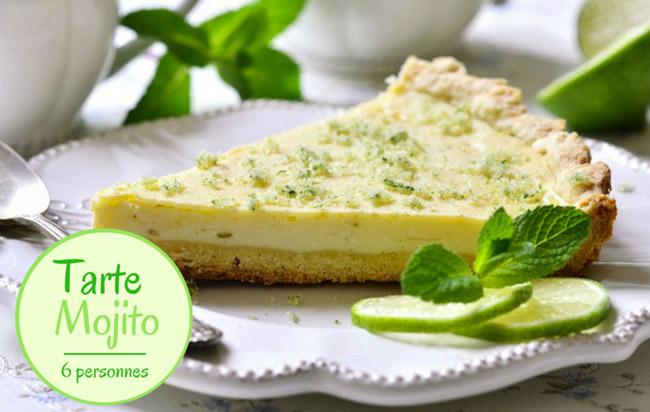 Tarte mojito, la recette citronnée et mentholée pour 6 personnes !