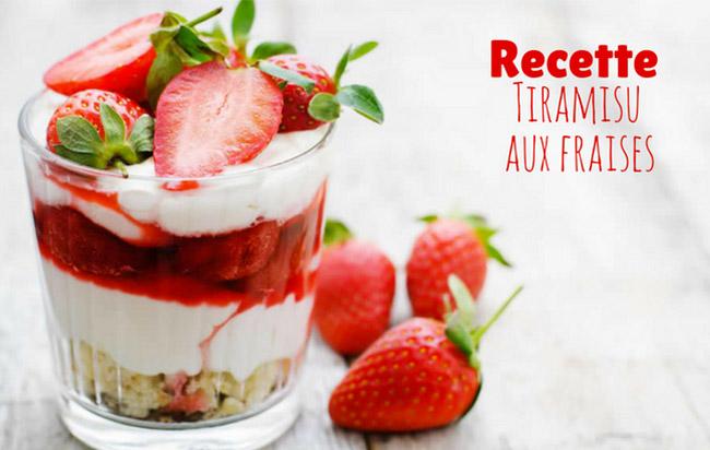 Tiramisu aux fraises - Recette facile pour 6 personnes