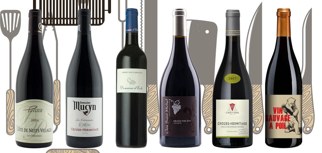 6 vins rouges sur le gril