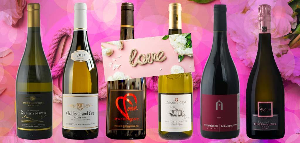 6 vins pour la Saint-Valentin 2019