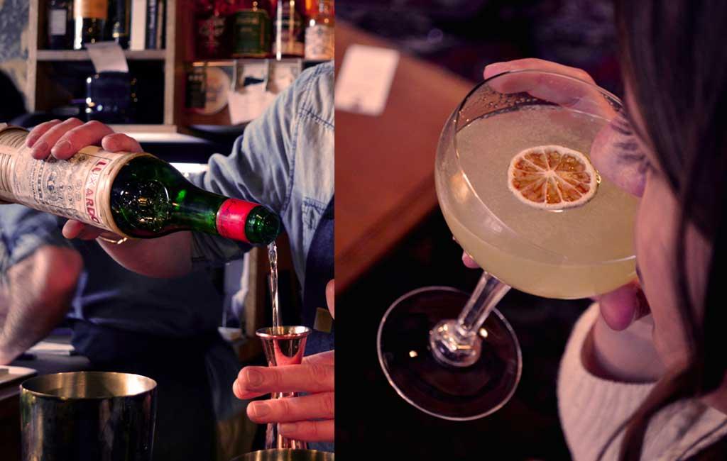 Cocktail chartreuse la mercerie grenoble