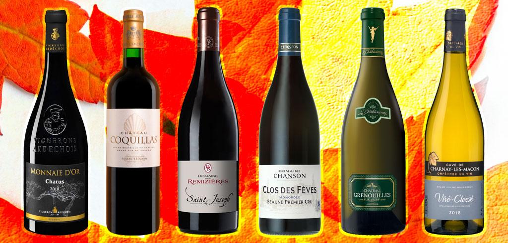 sélection des vins d'automne 2020
