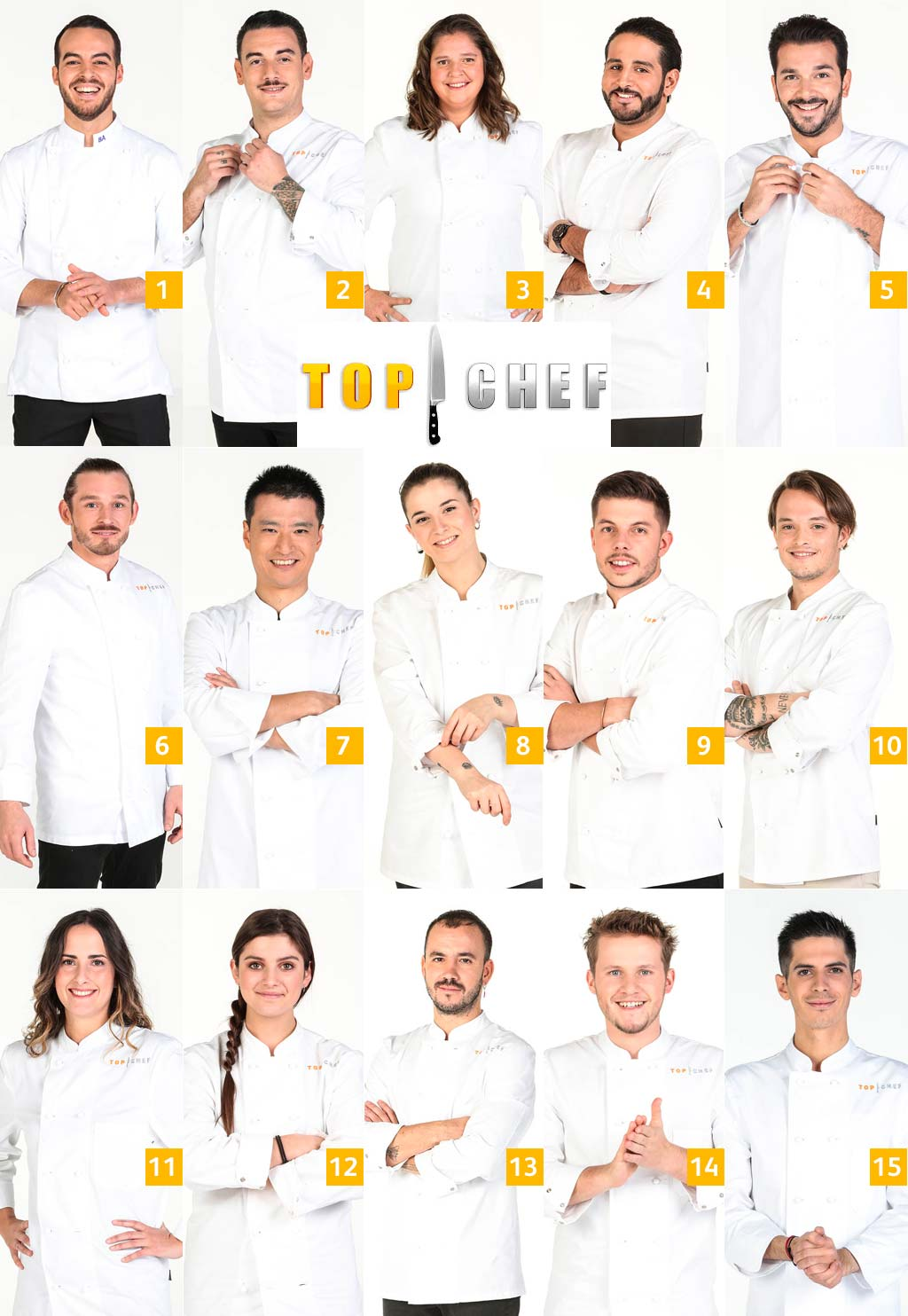 15 candidats top chef 2021