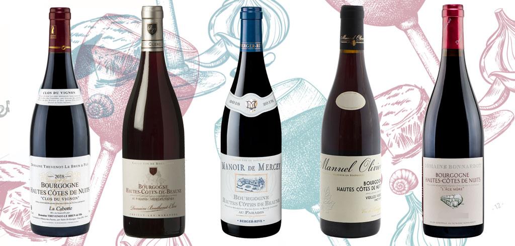 sélection vins hautes côtes