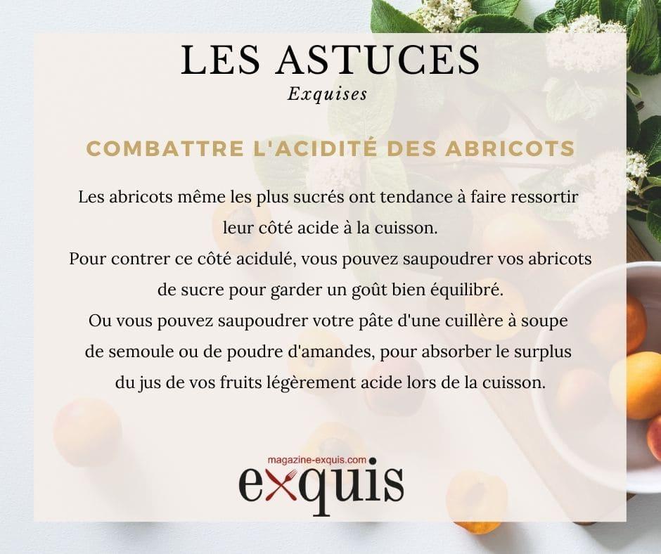 Astuce combattre l'acidité des abricots