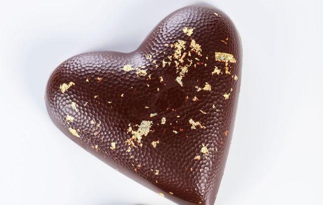 Palet Or en version coeur chocolatier Bernachon
