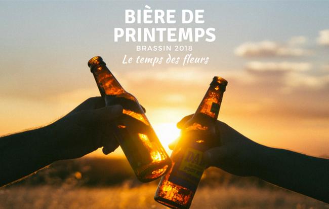 Bière de printemps, un brassin 2018 qui met les fleurs à l'honneur !