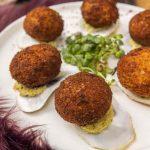 Recette cromesquis d'huîtres au beurre de truffe